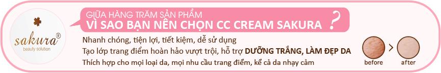 Kem trang điểm cc sakura cream